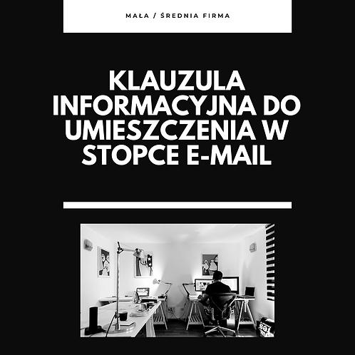 Klauzula informacyjna do stopki poczty mail.