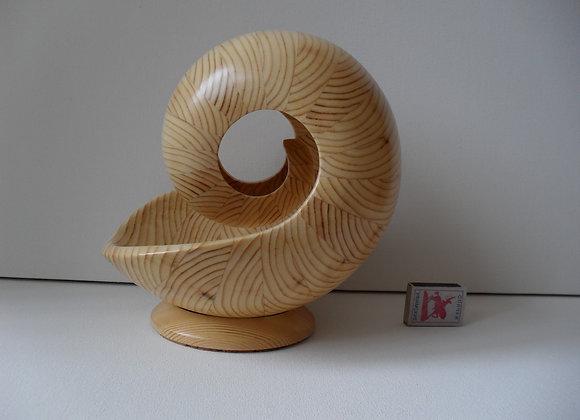 Наутилус из дерева.Скульптура- 9 БМ»