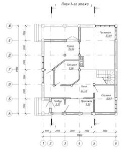 Проект - Лист - 4 - План 1-го этажа, План 2-го этажа