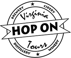 Virginia Hop on Tours-Black with white t