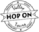 Valley hop on Tours logo- Black with tra