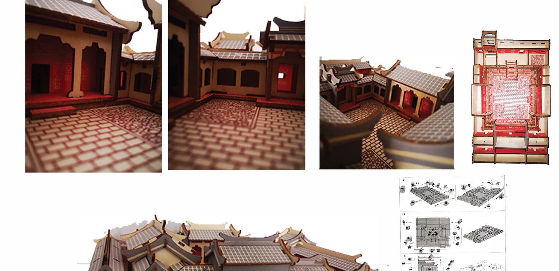 Model Of The Traditional Siheyuan