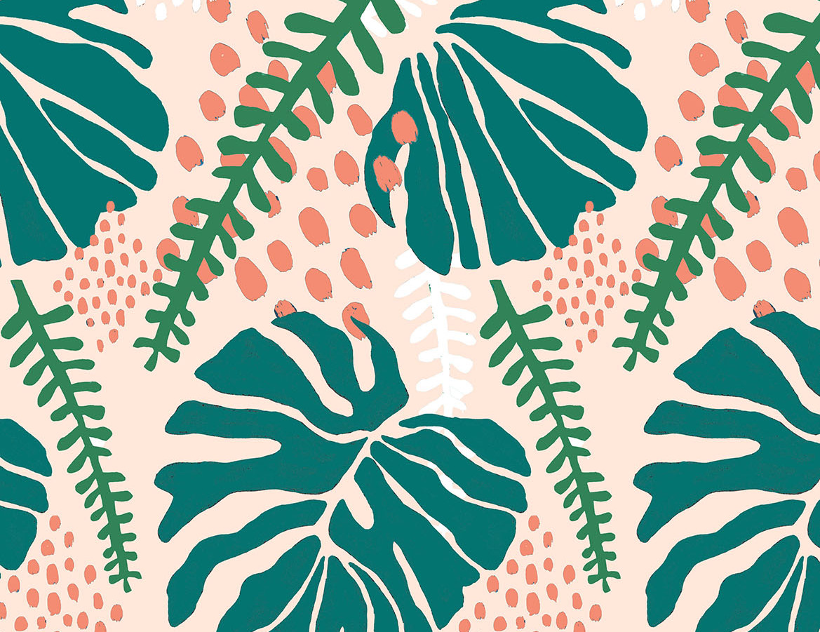 One of my favourite digital prints that I created using collage and then photoshop to create a repeat pattern.