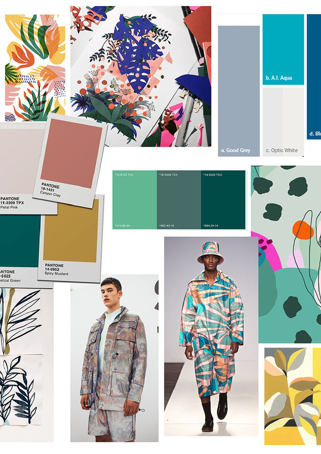A mood board to visualise my colour scheme, market and visual inspiration