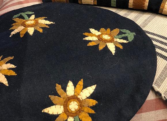 """Sunflower Round Mat 15"""""""