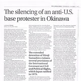 The silencing of an anti-U.S. base protester in Okinawa