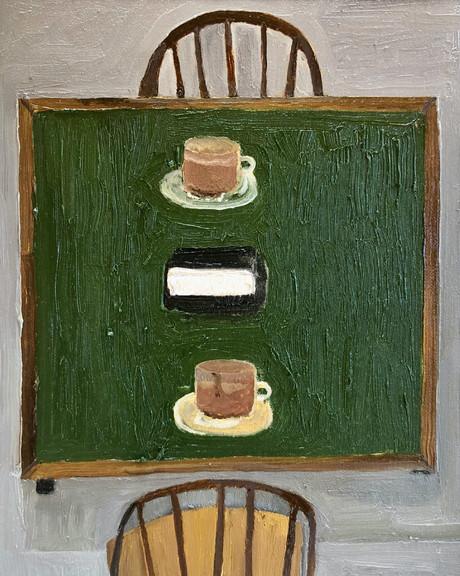 Puzzle Pieces, Oil on canvas panel, 24x18cm, 2021