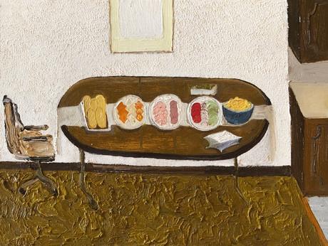Sub sandwich, Oil on canvas panel, 18x24cm, 2021