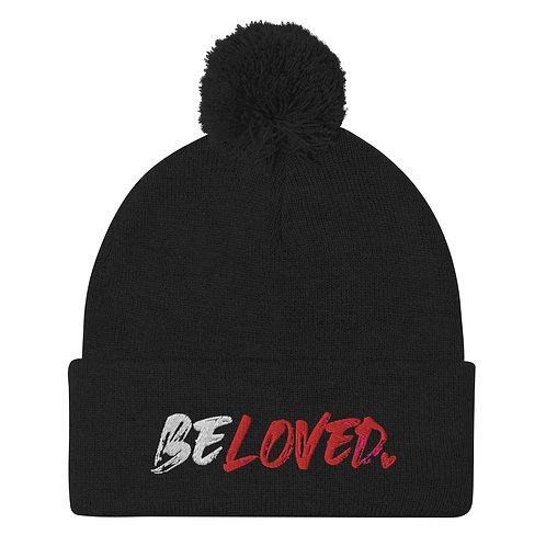 BELOVED Pom-Pom Beanie (Black)