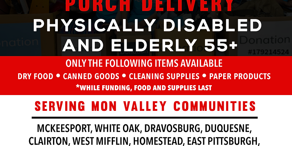 Porch Delivery (Physically Disabled & Seniors ONLY)