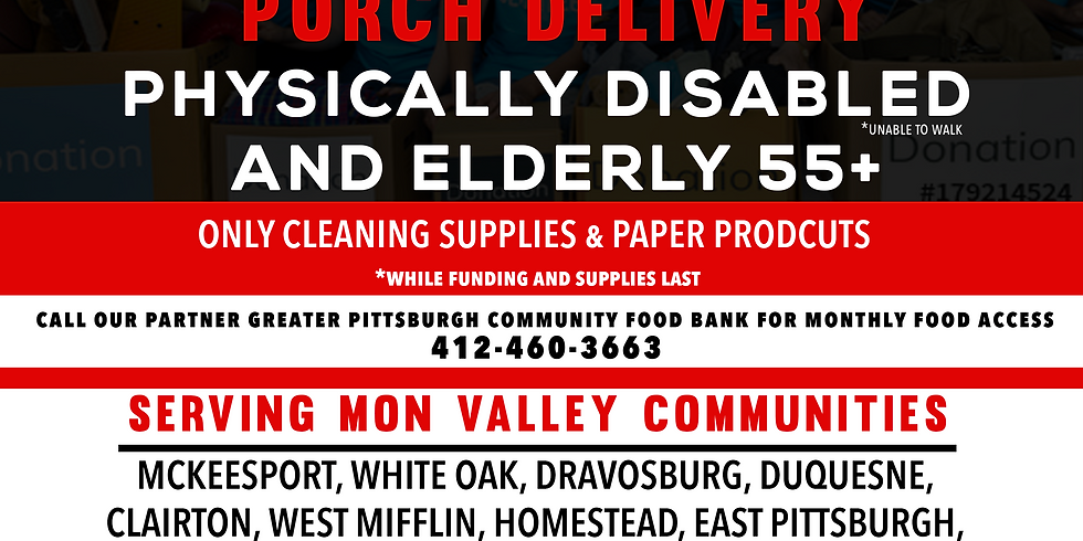 June 5-6 Porch Delivery (Physically Disabled & Seniors ONLY)