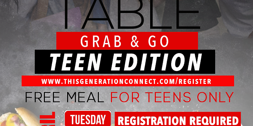 The Open Table (TEENS ONLY)- April 21