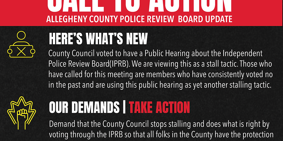 TAKE ACTION - Allegheny County Police Review Board