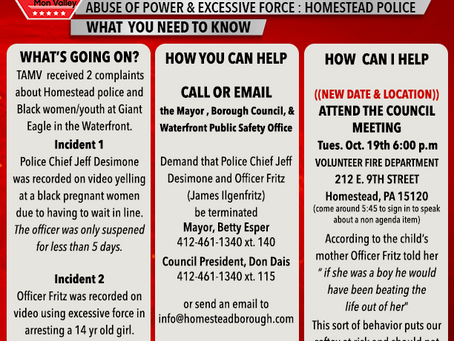 Homestead Police  Abuse of Power & Excessive Force