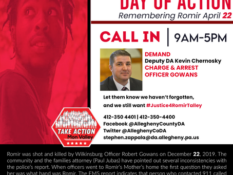 #Justice4RomirTalley- A Day Of Action/Call In Day 4/22