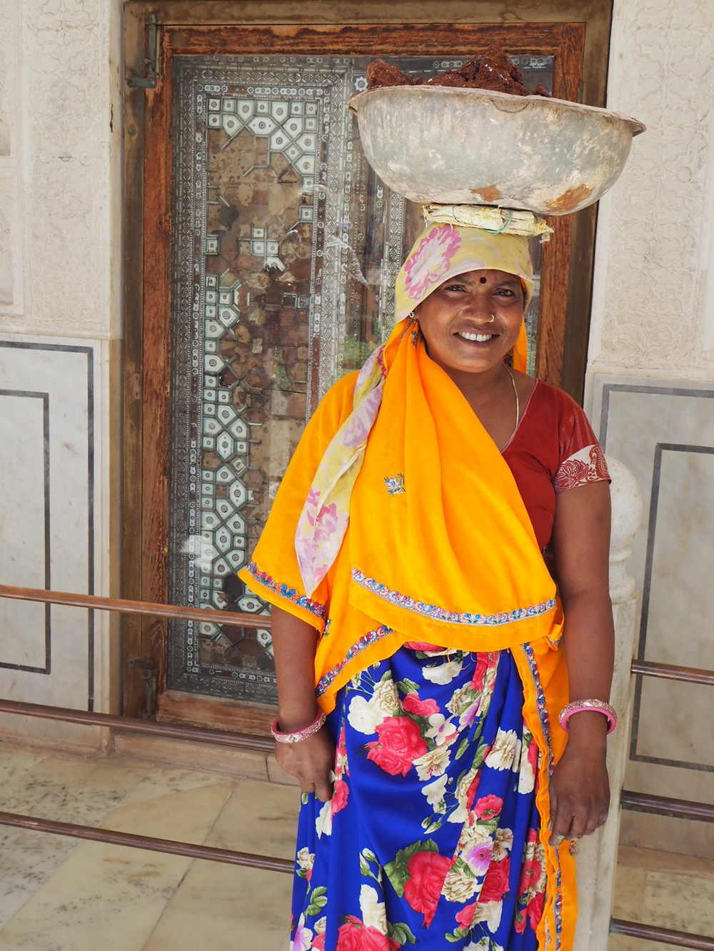 Local woman at Amber Fort