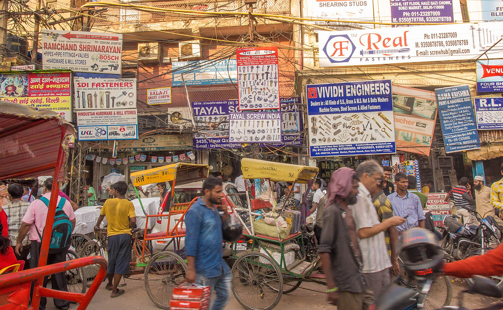 The chaos of Old Delhi