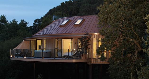 The stunning treehouse accommodation at Chewton Glen