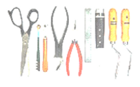 Picture of tools used for art projects