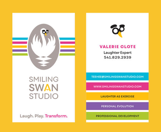 Smiling Swan Business Card