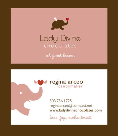 Lady Divine Business Card