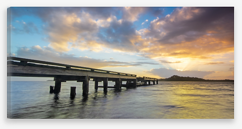 Pier Sunrise Panorama