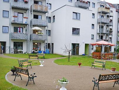 Unsere Betreute Seniorenwohnanlage Am Nordpark, Erfurt, bietet 24 barrierefreie Wohnungen.