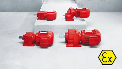 Explosion-proof helical gear units