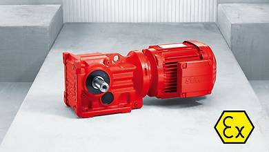 Explosion-proof helical-bevel gear units