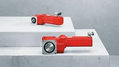 BS.F series helical-bevel servo gear units