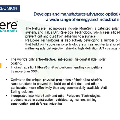 Pellucere optical coatings are getting the best out of solar