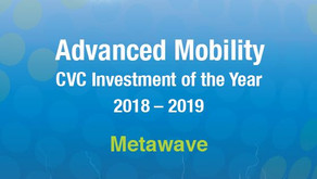 GCV Energy Awards 2018-19: Winner of  Advanced Mobility CVC Investment of the Year - Metawave