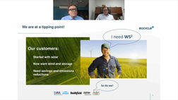 Eocycle's CEO introduces the Wind + Solar + Storage solution (WS2) to farmers.