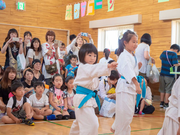 神山児童館祭りで演武をさせて頂きました!*9月15日(土)函館空手スクール