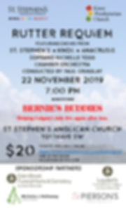 Nov 2019 Rutter Requiem Concert Poster .