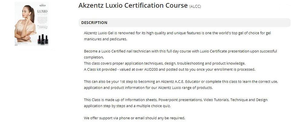 Luxio Online Certification Class.JPG