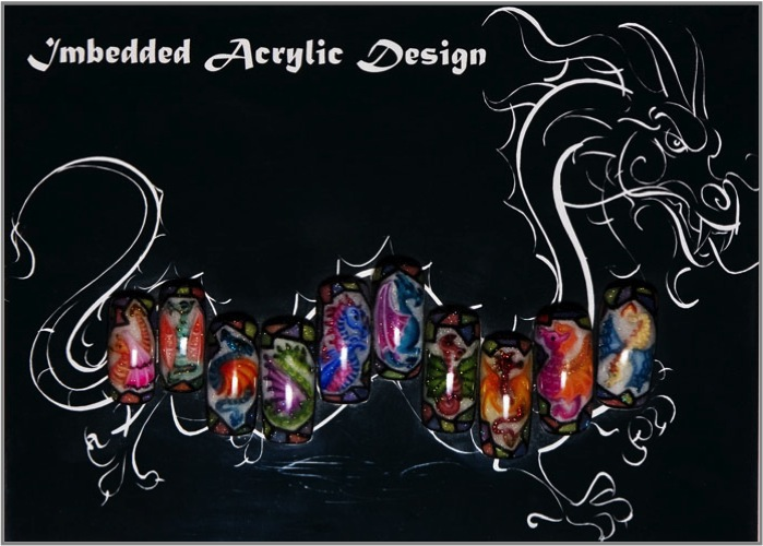Dragons Acrylic Inlay design