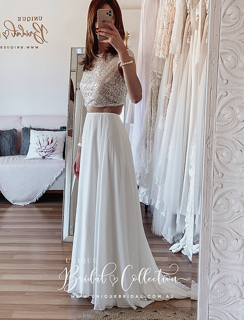 Bailey Chiffon skirt with sparkle top