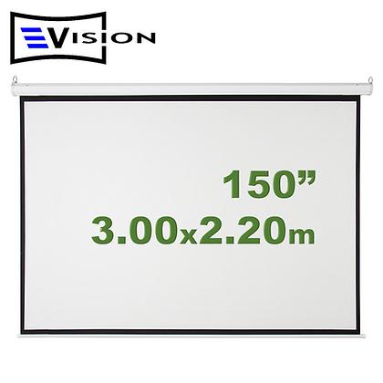 "Ecran Manual 150"" 3.05x2.29m EVISION - Retráctil Techo Pared"