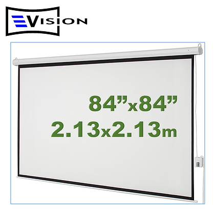 "Ecran Eléctrico 84""x84"" 2.13x2.13m EVISION - Techo Pared"