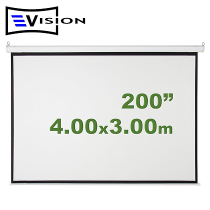 "Ecran Manual 200"" 4.06x3.05m EVISION - Retráctil Techo Pared"
