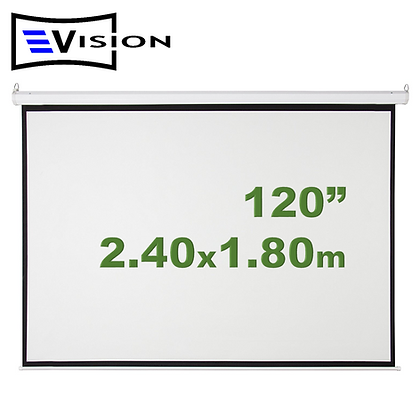 "Ecran Manual 120"" 2.44x1.83m EVISION - Retráctil Techo Pared"