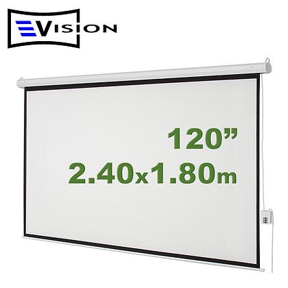 """Ecran Eléctrico 120"""" 2.44x1.83m EVISION - Techo Pared"""