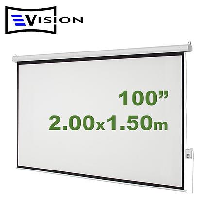 """Ecran Eléctrico 100"""" 2.03x1.52m EVISION - Techo Pared"""