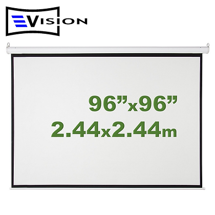 "Ecran Manual 96""x96"" 2.44x2.44m EVISION - Retráctil Techo Pared"