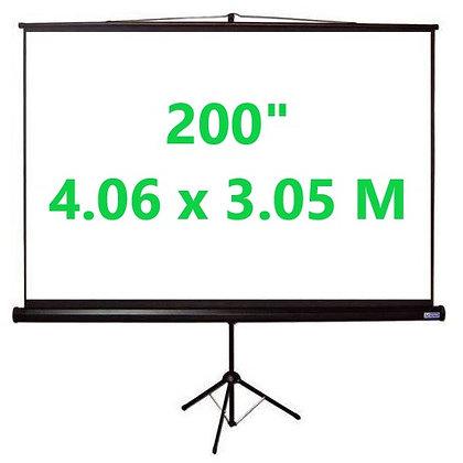 """Ecran Trípode 200"""" 4.06x3.05m"""