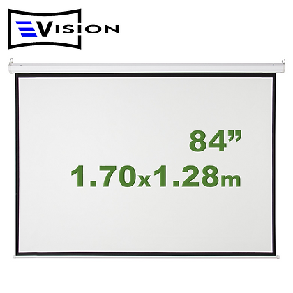 "Ecran Manual 84"" 1.70x1.28m EVISION - Retráctil Techo Pared"