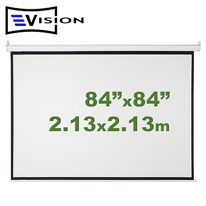 "Ecran Manual 84""x84"" 2.13x2.13m EVISION - Retráctil Techo Pared"