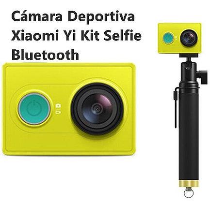 Cámara Deportiva Xiaomi Yi 1080p + Kit Selfie Bluetooth - Versión Internacional