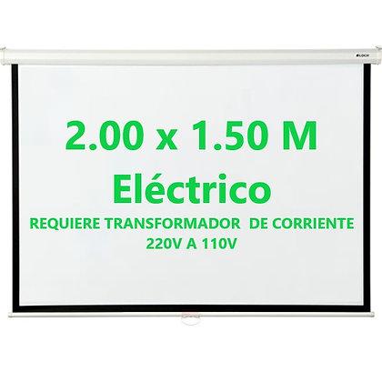 """Ecran Eléctrico 100"""" 2.00x1.50m Klip Xtreme - Techo Pared"""